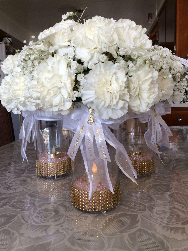 Centerpiece Floral Arrangement For Baptism Or 1st