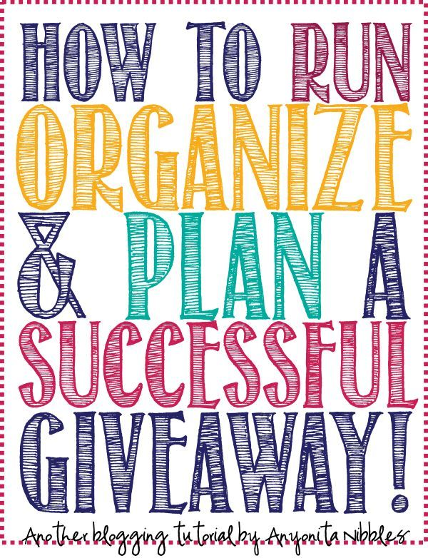 The definitive guide for running, organizing  planning a successful giveaway. If it's not here; you don't need to know it!