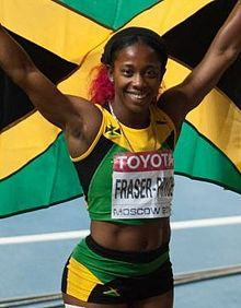 Shelly-Ann Fraser-Pryce (JAM) - Six-times Olympic medalist