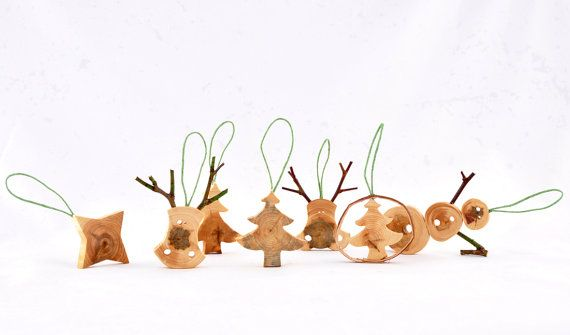 Wooden Christmas Ornaments  Christmas Tree Decors  by Morgod