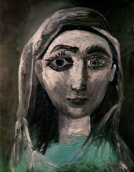 Pablo Picasso. Portrait de Jacqueline. 1961 year