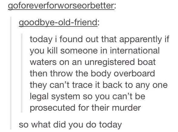Killing someone in international waters on an unregistered boat