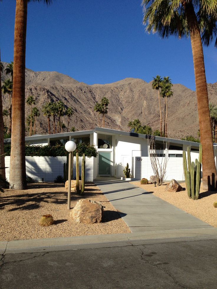 Palm Springs Mid Century - like the idea of the mountain backdrop.