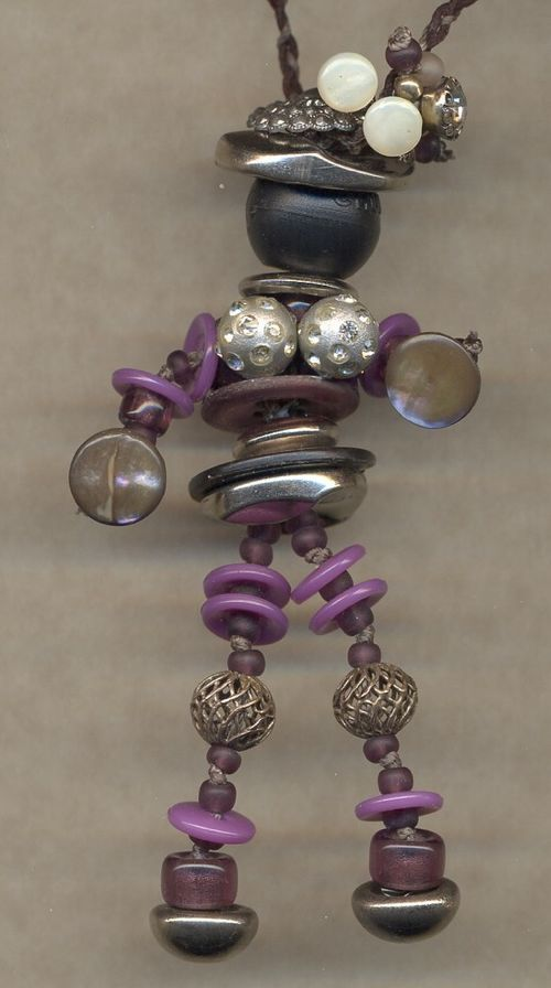 crazy button lady necklace isn't she fun