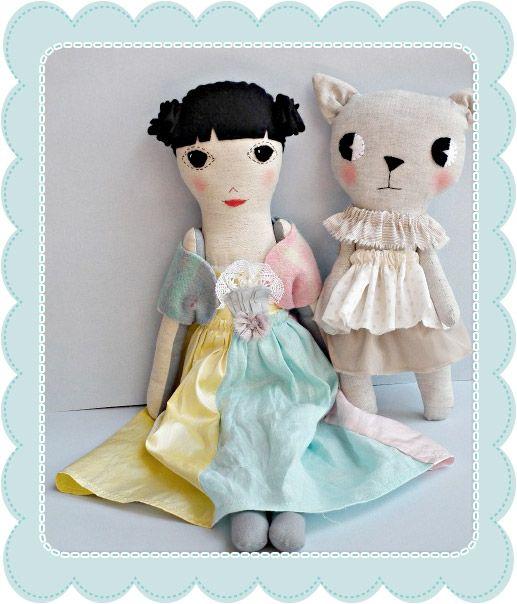 Raggy dolls - love the cat