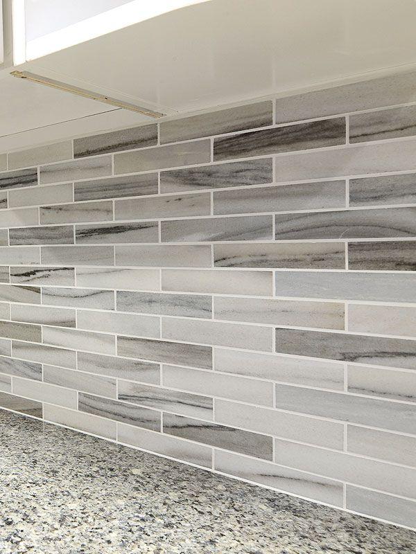 Best Modern White Gray Subway Marble Backsplash Tile Grey 400 x 300