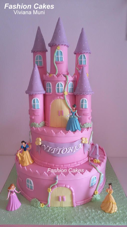 Castle Princesses - Cake by fashioncakesviviana