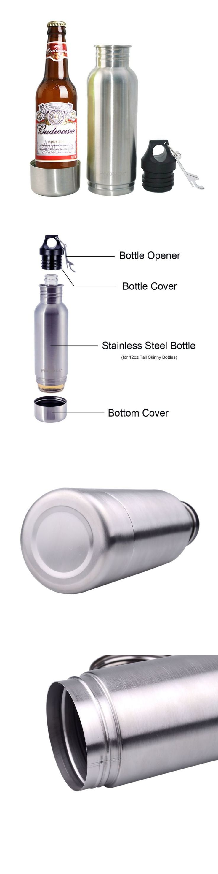 Food And Drink: Bottle Keeper Stainless Steel Soda Beer Holder Beverage Cooler Insulator Thermos -> BUY IT NOW ONLY: $15.2 on eBay!