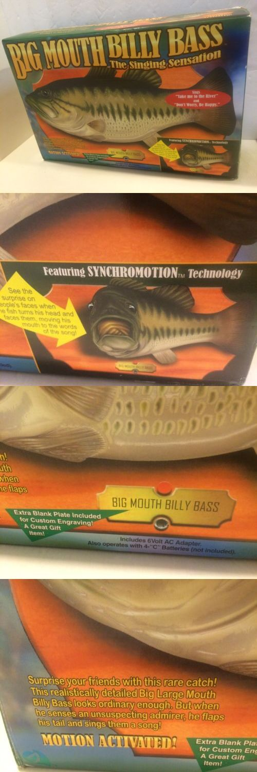 Novelties and Gifts 62143: Original 1999 Big Mouth Billy Bass Singing Fish Motion Activated Wall Plaque -> BUY IT NOW ONLY: $30 on eBay!