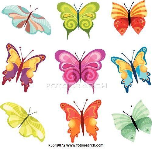 Les 37 meilleures images du tableau papillons sur pinterest insectes chenille papillon et - Papillon dessin couleur ...
