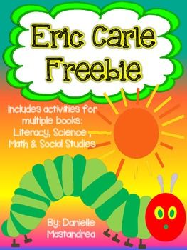 This Eric Carle FREEBIE contains activities for various Eric Carle Books. ~ENJOY~**Please leave me feedback :)Visit my blog and Facebook page for Freebies & More!Krazee4Kindergarten BlogKrazee4Kindergarten Facebook PageFollow on Pinterest