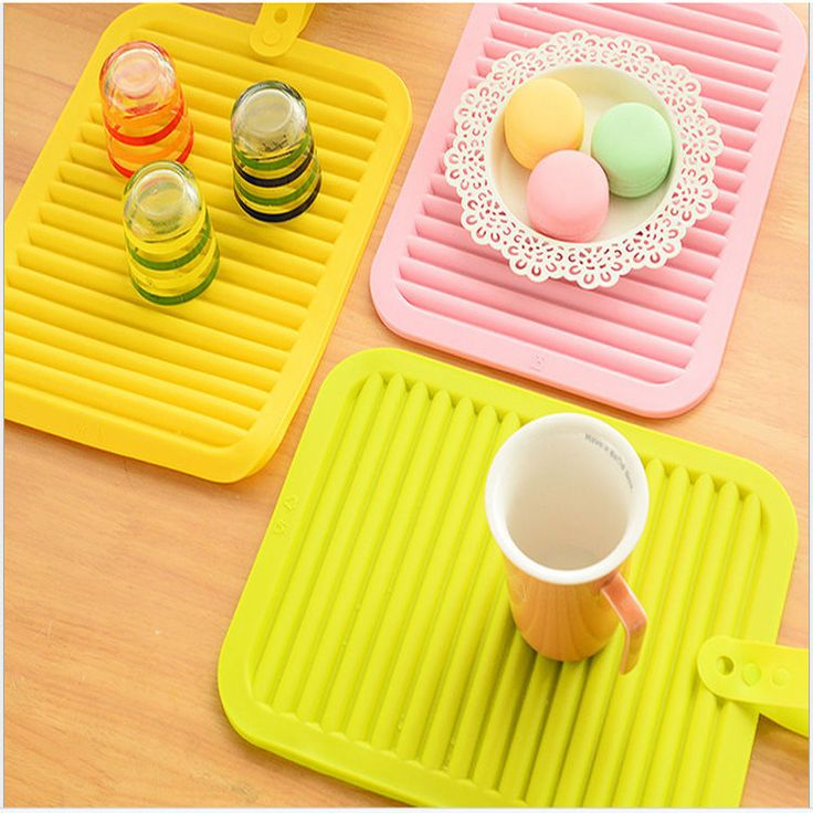 High Temperature Insulation Pad Sheet Non-Slip Silicone Tableware Placemat