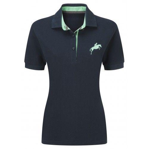 Harry Hall Ladies Navy Appleton Polo Shirt | Millbry Hill