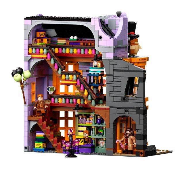 Get All Your Wizard Supplies In The Stores Of The New Lego Harry Potter 75978 Diagon Alley Set News The Brothers Brick In 2021 Lego Harry Potter Harry Potter Diagon