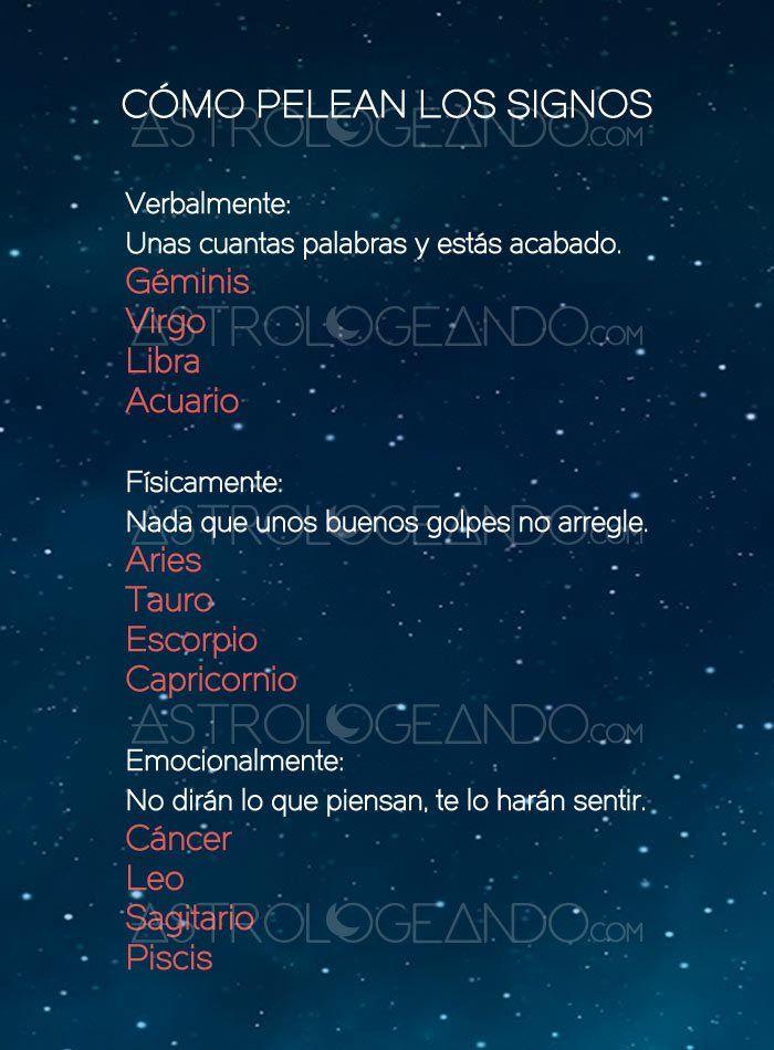Cómo pelean los signos #Astrología #Zodiaco #Astrologeando