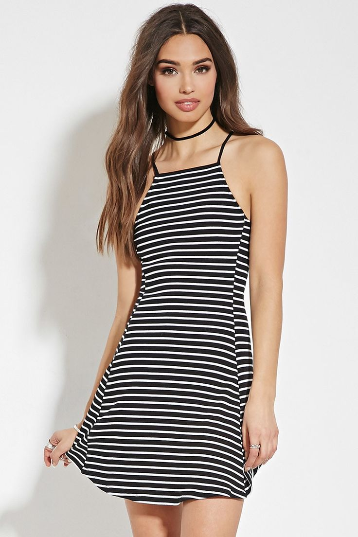 Striped Cami Dress - The 90's Collection - 2000150849 - Forever 21 EU English