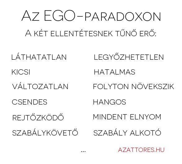 az ego paradoxon hatása az életedre