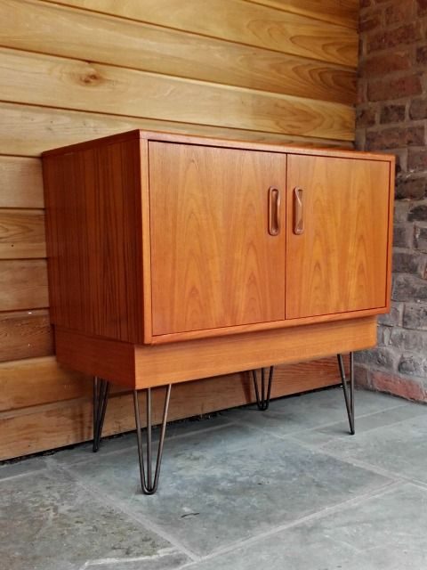 A lovely G-Plan Fresco cabinet, it would make a fab drinks cupboard or record cabinet and would look great in any mid-century modern or contemporary interior with it's industrial hairpin legs. www.whittakergray.co.uk