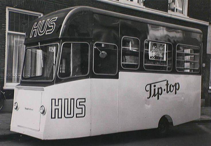 Bezorgwagen Bakkerij Hus 1960