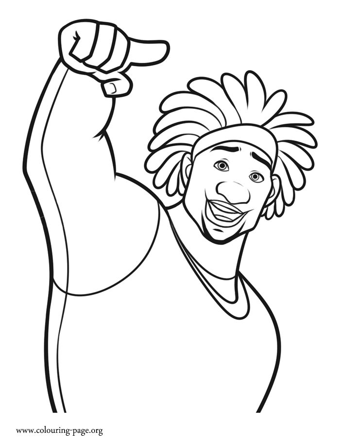 How About To Print And Color Wasabi From Big Hero 6 Movie He Is A