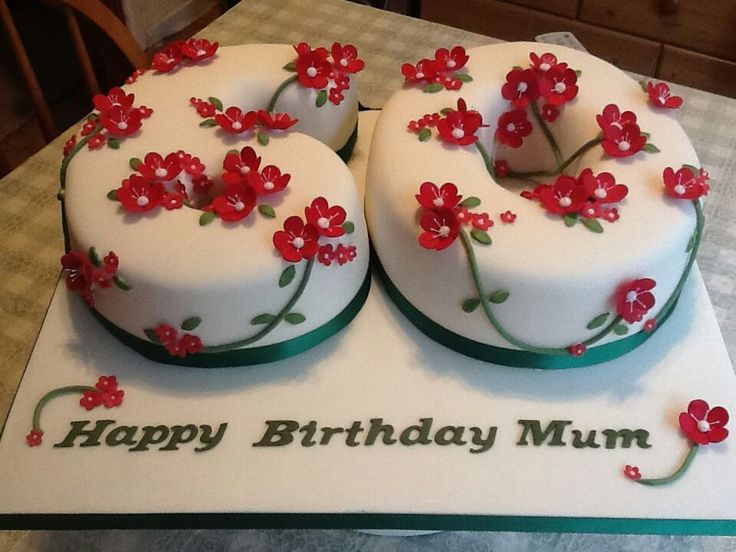 60th Birthday Cake Cake Ideas Pinterest Mom Flower