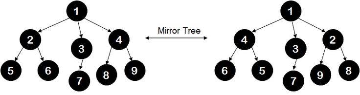 Convert the given n-ary tree to its mirror image - IDeserve