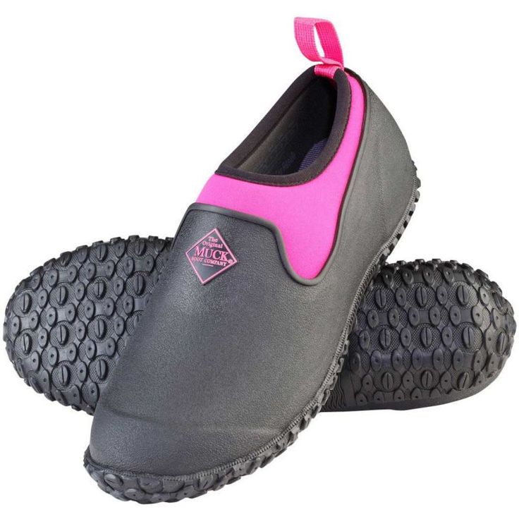 Muck Boot Women's Muckster II Low Waterproof Rubber Shoes, Size: 11, Black