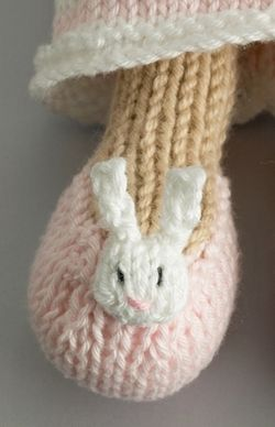 A little bunny slipper by Little Cotton Rabbits - super cute