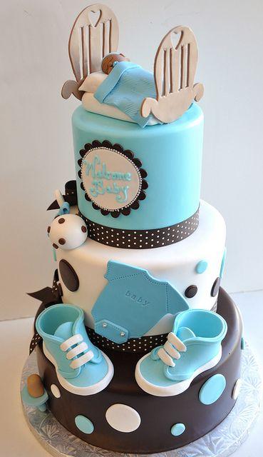 baby shower cake #http://www.timelesstreasure.theaspenshops.com/product/baby-shower-cakes.html