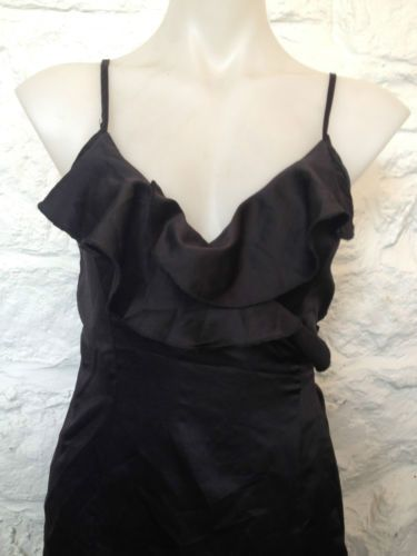 Ladies Black Ruffle Wrap Around Party Dress - Size 8-10 - Now Selling! Click through to go to eBay Auction!