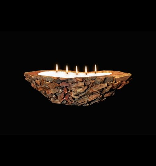 Canoe Teak Wood Candle  Beautiful rustic feel for any room!  www.volcanicacandles.com