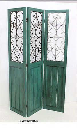Wood Shabby Chic French Country Folding Screen Room Divider