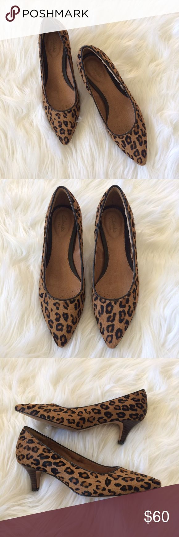 Selling this Clarks Cheetah Heels on Poshmark! My username is: britt_popp. #shopmycloset #poshmark #fashion #shopping #style #forsale #Clarks #Shoes
