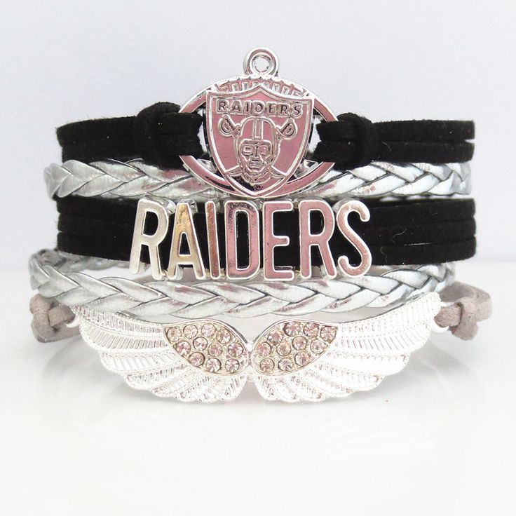 INTRODUCTORY 50% OFF SALE! Be one of the first to get one of these pretty Love Oakland Raiders Football Bracelets at 50% Off retail. Show off your team pride by sporting one of these beautiful bracele