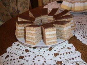 Tejfölös diós süti recept fotó