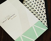 Art Deco Invitation Suite -  Invitation & Reply Card. $5.00, via Etsy.