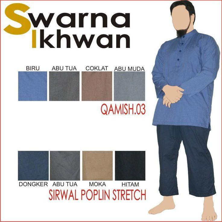 Setelan Baju Gamis Swarna Ikhwan Baju Muslim Pria Setelan Qamis03