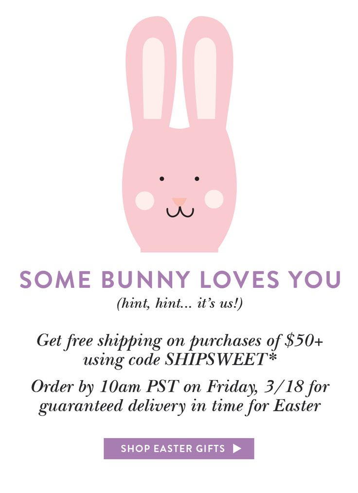 65 best inspiring easter emails images on pinterest email some bunny loves you last chance for free shipping by easter negle Choice Image