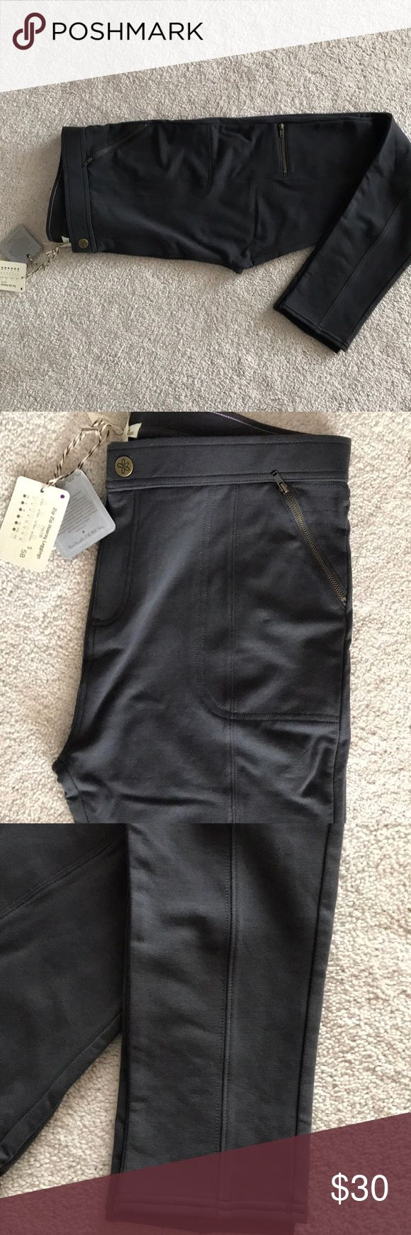 Zip hooray leggings Matilda Jane Super soft NWT charcoal grey zip zip hooray leggings by MJ. Size XL never tried on and smoke and pet free home Matilda Jane Pants Leggings