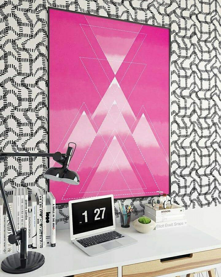 Poster and wallpaper are designed by Virpi Karjalainen. The mock up interiors setting is from Behance.