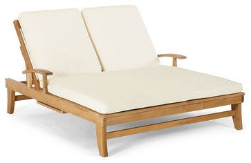 Melbourne Double Outdoor Chaise Cushion, Patio Furniture - Traditional - Outdoor Chaise Lounges - FRONTGATE