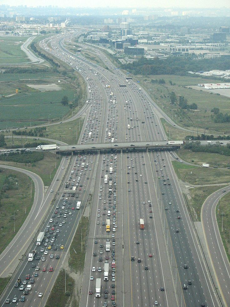 Highway 401 in Toronto, Canada You'd think traffic wouldn't be a problem. Nightmare every day!!