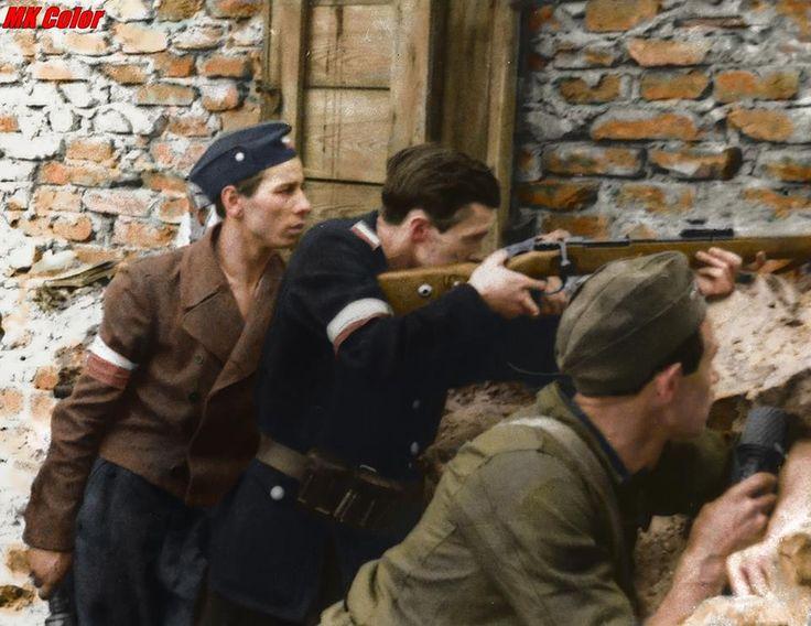 Fotografia z Powstania Warszawskiego  Warsaw Uprising 1944