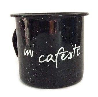 Taza Pocillo Mi Cafesito Negro (Pocillo)