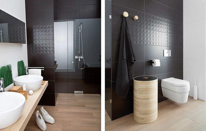 Modul / Purio - białe i grafitowe płytki łazienkowe - oszczędność formy i wygoda