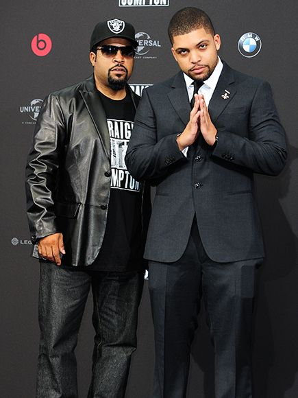 Star Tracks: Wednesday, August 19, 2015 | SPITTING IMAGE | Rapper and actor Ice Cube poses next to his lookalike son, O'Shea Jackson Jr. – who plays his pop in Straight Outta Compton – at the film's Tuesday premiere in Berlin, Germany.