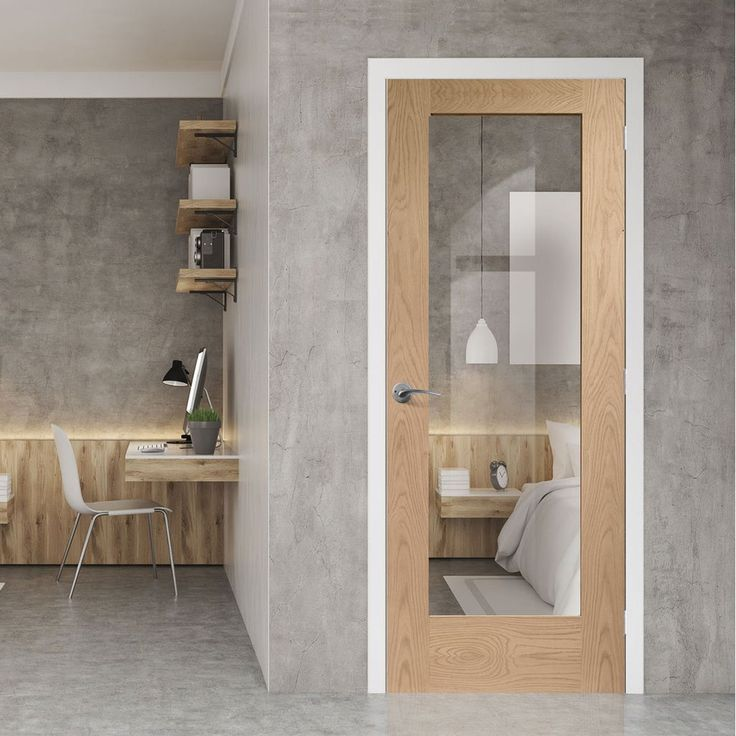 Bespoke Pattern 10 Style Oak Fire Door, Clear Fire Glass & 1/2 Hour Fire Rated.      #bespokedoor #moderninteriordoor #newdoor #dooridea #interiordesitgn #door #doors#bespokefiredoor