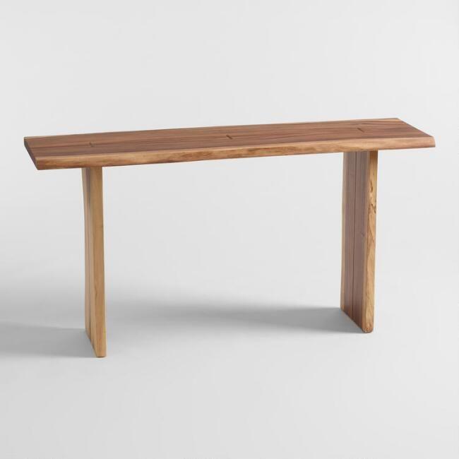 Live Edge Wood Sansur Console Table Live Edge Wood Console