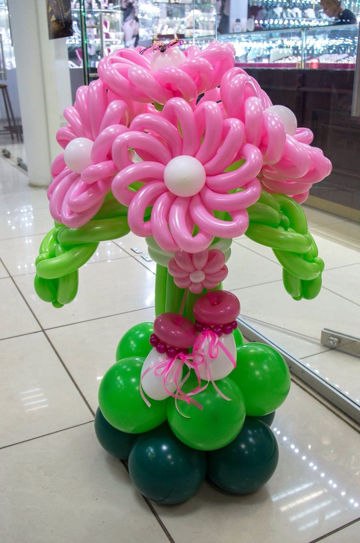159 best balloon decorations images on pinterest adult luau party like the idea of base with flowers izmirmasajfo