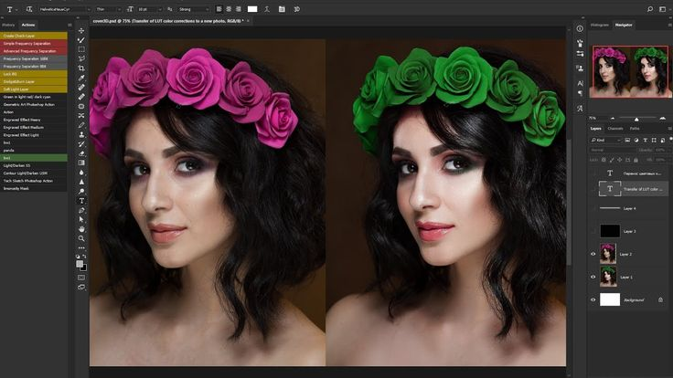 How to Select and Change Colors in 3DLutCreator, and base Retouch in  Ph...